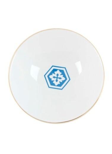Porland Morocco Desen2 Mavi Çukur Tabak 19cm Mavi